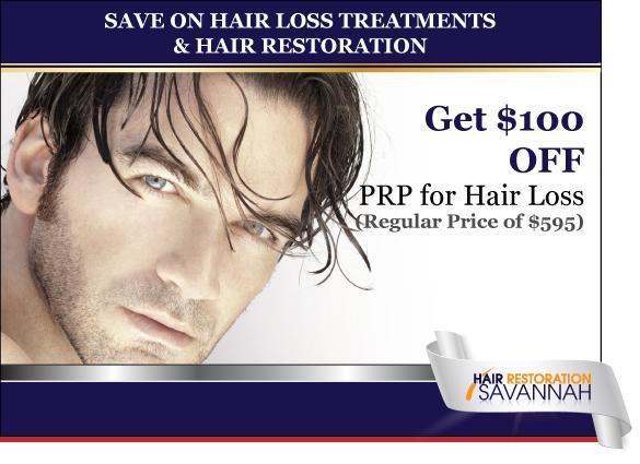 Hair Restoration Savannah Special Save on PRP for Hair Loss