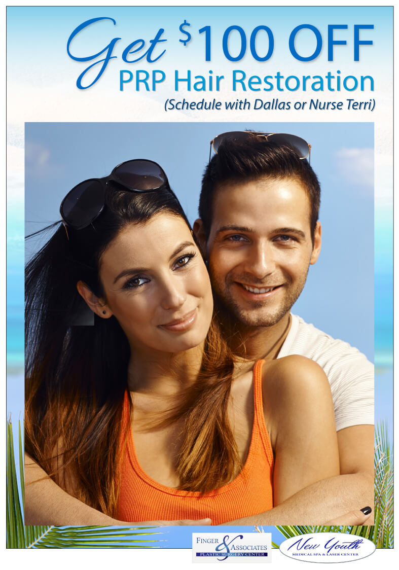 GET $100 OFF PRP Hair Restoration (Schedule with Dallas or Nurse Terri)