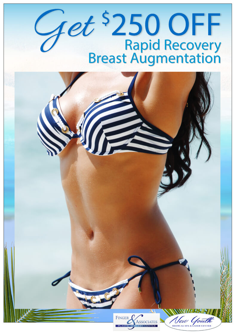 GET $250 OFF Rapid Recovery Breast Augmentation