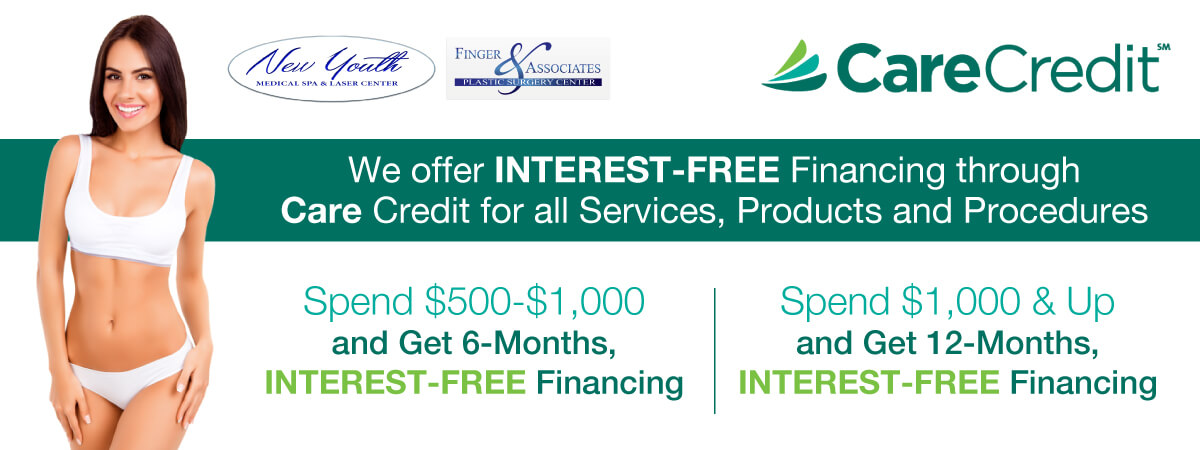 Apply for interest-free financing for Plastic Surgery Procedures and Med-Spa Treatments for Finger and Associates and New Youth Medical Spa in Savannah Ga
