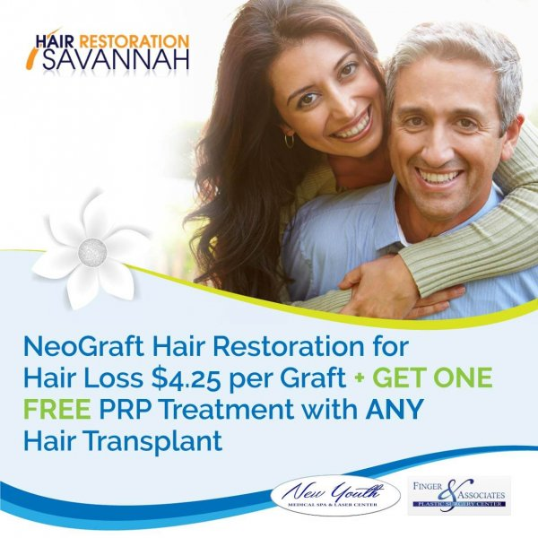 Monthly Specials include Neograft with PRP Therapy Learn More by visiting the specials page on fingerandassociates.com