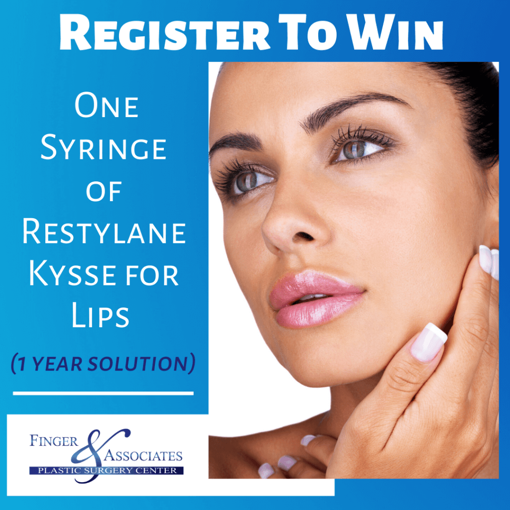 Register to win one syringe of Restylane lip filler from New Youth Medical Spa in Savannah Georgia offered by Dr. Finger