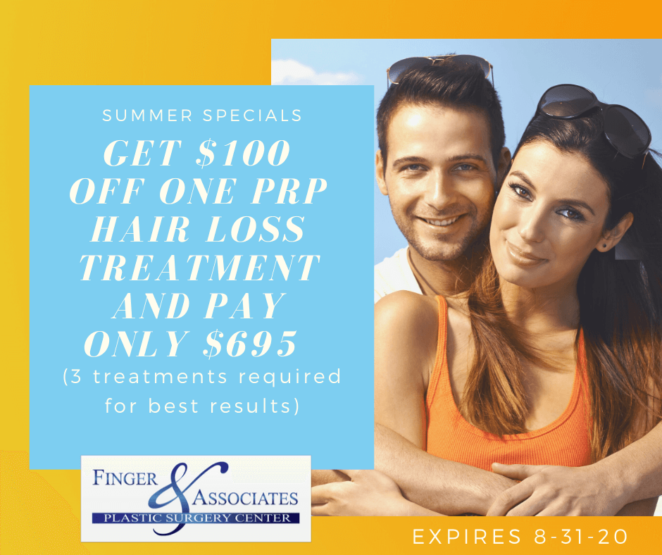 PRP hair therapy treatment at Finger and Associates