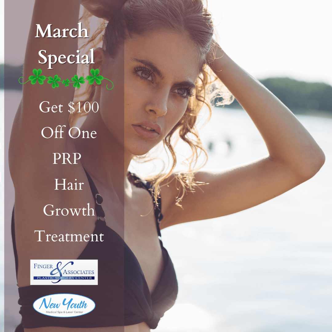 March Specials include PRP hair loss treatment for men and women suffering from hair loss